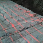 "chemical expansive-concrete breaking 54"" slab"
